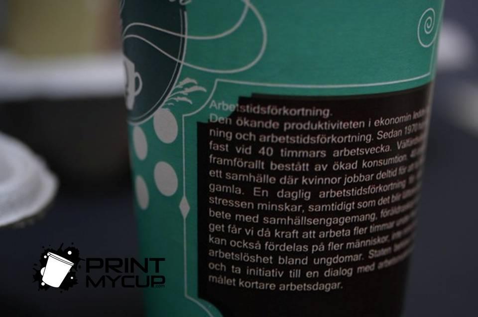 Creative Coffee Cup Design Feministiskt Initiativ 2 www.printmycup.com custom printed coffee cups