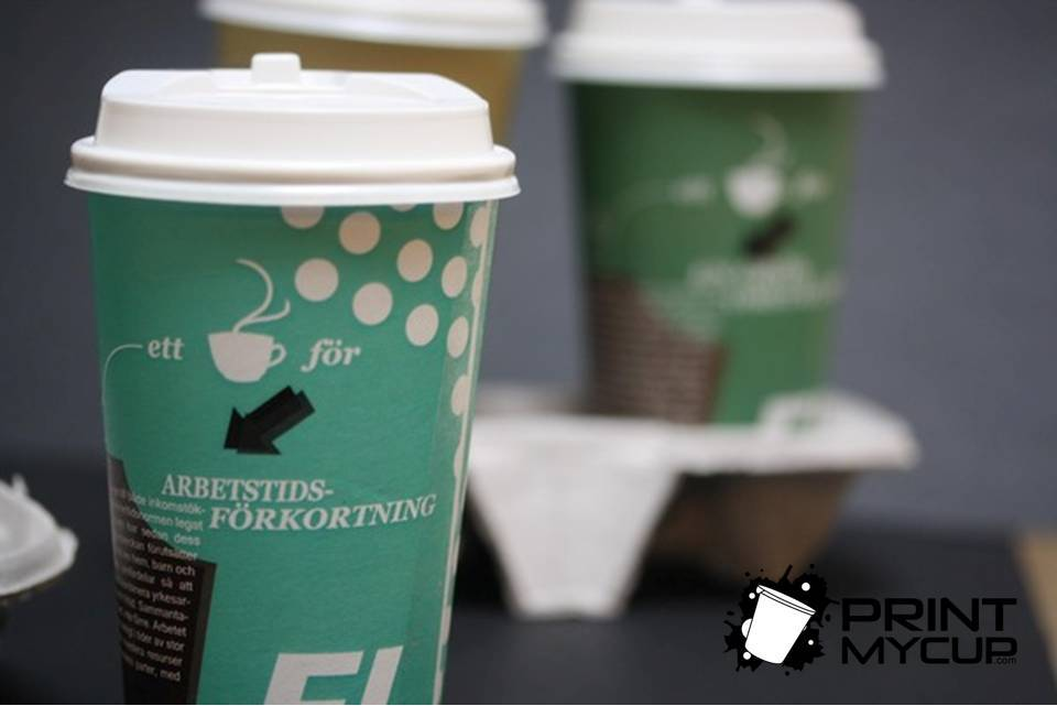 Creative Coffee Cup Design Feministiskt Initiativ1 www.printmycup.com custom printed coffee cups