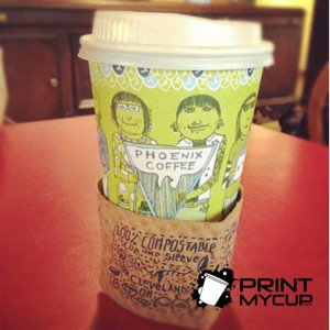 Phoenix Coffee1 Custom printed coffee Cups www.printmycup.com
