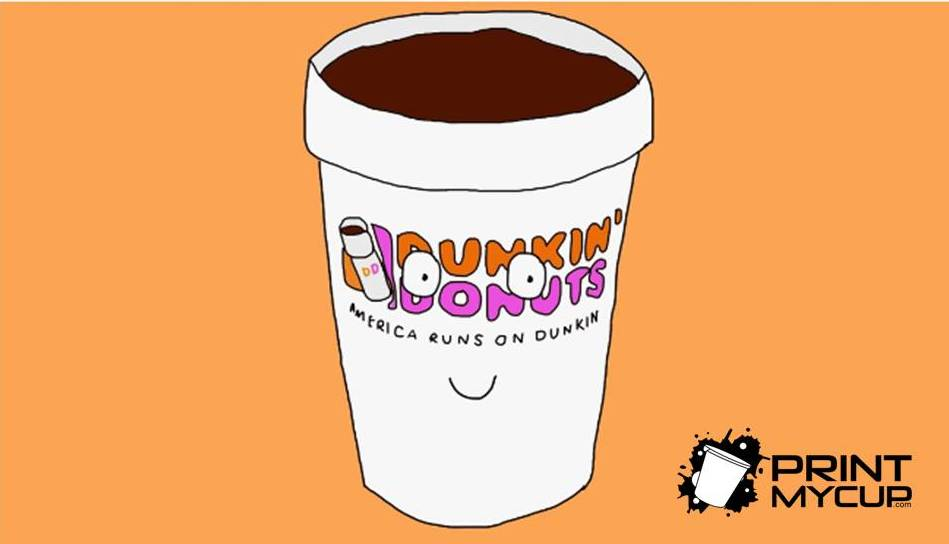 dunkin donuts double wall cup- paper cups wholesale #printmycup