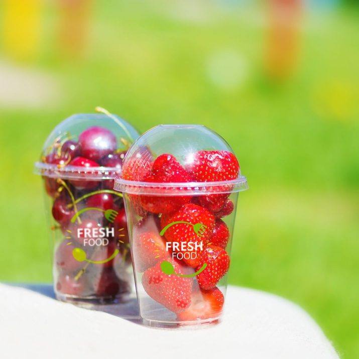 Branded Clear Cups FreshFood